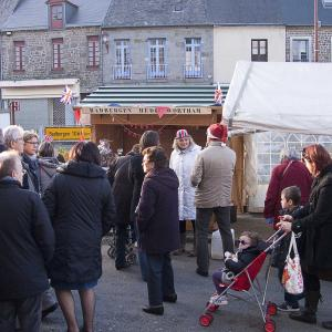 Bustle around the Twinning stall